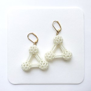 Snowball《triangle/white×gold》