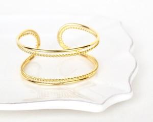Double line petit chain bangle