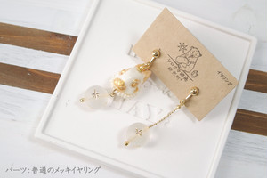 【Animal Head】ウサギのイヤリング(コスモビーズ)