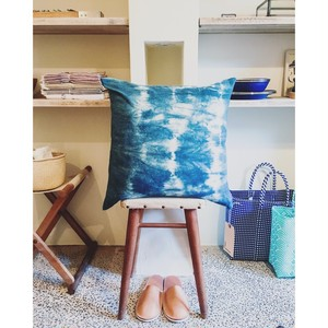 lookout and wonderland — organic indigo pillowcase