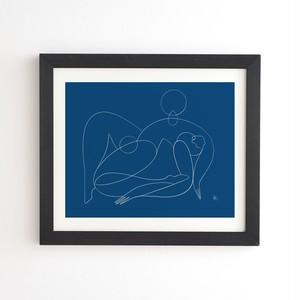フレーム入りアートプリント   TIDAL WAVE BY MAGGIE STEPHENSON【受注生産品: 11月下旬頃入荷分 オーダー受付中】