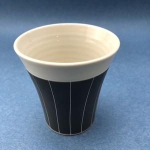 砥部焼 一夢工房 線彫フリーカップ(小)