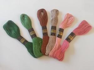 フランス ヴィンテージ刺繍糸6色セット