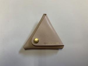三角コインケース natural