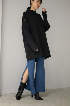 【予約商品】ROOM211 / Rib knit PT (jay blue)