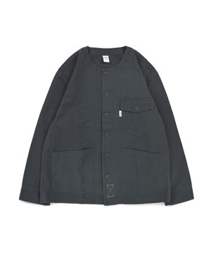 No Collar Utility Shirt Jacket / C.GREY