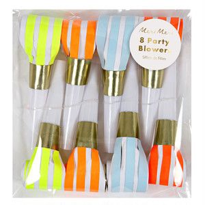 Meri Meri -Neon Party Blowers-