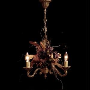 hydrangea purple chandelier lamp france vintage