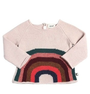 Oeuf / Rainbow Sweater [LIGHT PINK]