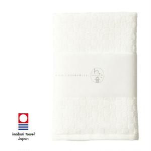 わた音 しゅす織り ハンカチタオル/オフホワイト