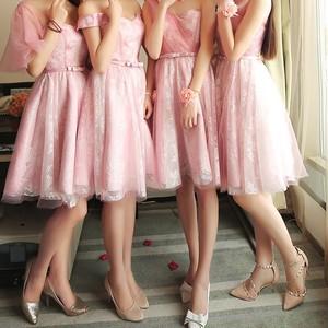 フェミニン*ピンクのブライズメイドドレス