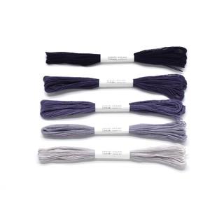 草木染めかがり糸 ログウッド_グラデーションセット