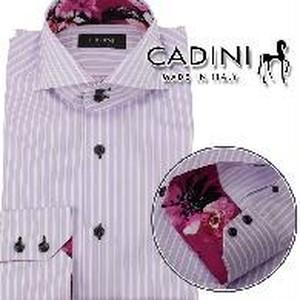 カディーニ (CADINI) メンズシャツJOE 2B UB KING TWILL C040 3 519パープル系 サイズ(#40)