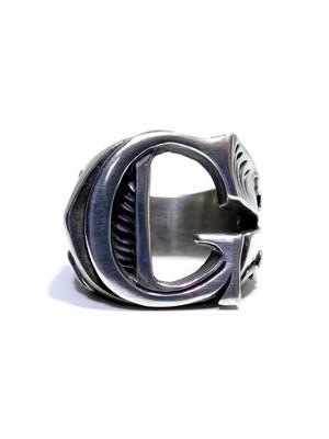 alphabet ring#G (silver925) - アルファベットモチーフ リングG-