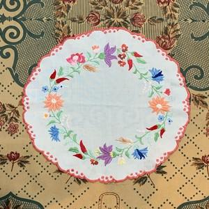 リース刺繍のハンガリークロス