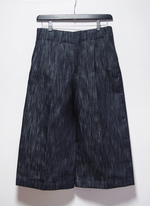 denim 2tuck wide pants【20%OFF】
