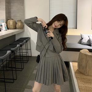 【set】[単品注文]ファッション無地コート+スカットセットアップ22857526