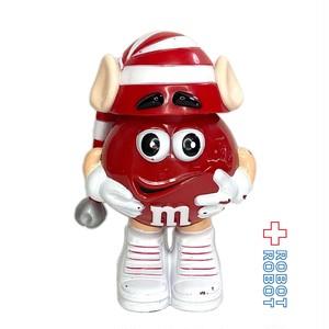 M&M's ミニディスペンサー フィギュア レッド ホリデー 耳付きロング赤白ボーダー