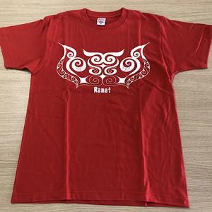 プリントTシャツ(赤) T-shirt(red) 【さっぽろアイヌクラフト】