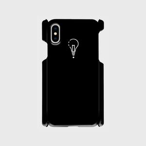 【X,8,7,SE】ロゴiPhoneケース黒