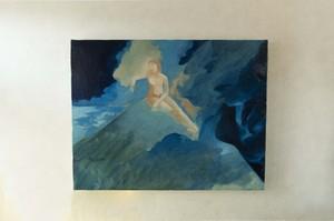 【油彩画】「望月の宵の宴 No.1」F6size 油絵、絵画、美術