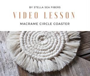 《VIDEO CLASS》マクラメサークルコースター 動画+PDF付き