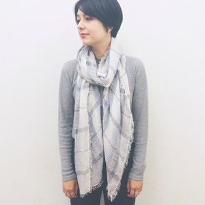 【 import 】CHECK PATTERN STOLE