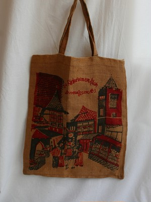 French 70's Linen Tote Bag