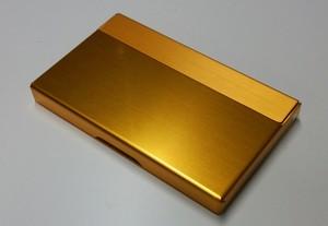 アルミニウム製名刺カード入れ ゴールド色