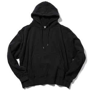 YOKE PIPING WIDE PARKA(BLACK)