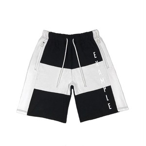 EXAMPLE x KANGOL SWEAT SHORT PANTS / BLACKxWHITE
