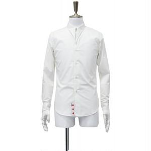 白 シャツ メンズ 長袖 無地 サイズ S M 38cm 40cm