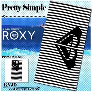 ARJAA03077 ロキシー 人気ブランド ビーチタオル バスタオル レジャー ビーチ 海 プール ユニセックス ボーダー ストライプ PRETTY SIMPLE ROXY