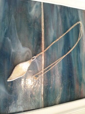 ステンドグラスアクセサリージュエリー「天使の羽根」*チェーンsilver925