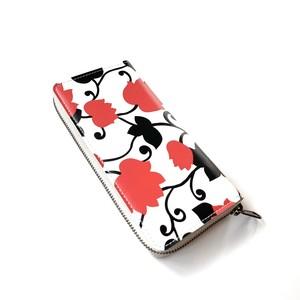 国内の財布職人の逸品!北欧デザイン 牛革ラウンド財布   matthew red