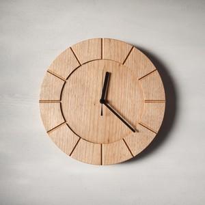 木の時計01(Φ300) No6 | クルミ【針、選択可】