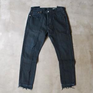 OLD PARK SLIM FLARE JEANS BLACK size:M