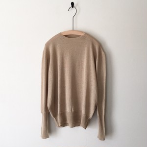 【miho umezawa】 COTTON LINEN thin yarn pullover