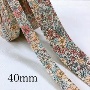 40ミリ・花柄Bファブリックリボン