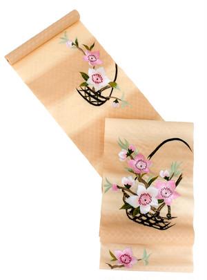 《2色》籠に桜【名古屋帯】(受注商品・納期約1ヵ月)