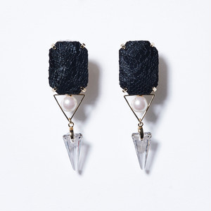 TRIANGLE BIJOU CRYSTAL STUDS EARRINGS