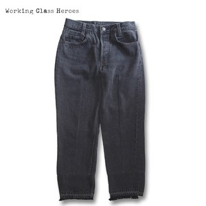 Remake Center Seam Narrow Jeans Black -A