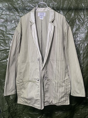 1980s MARITHE FRANCOIS GIRBAUD STRIPED JACKET