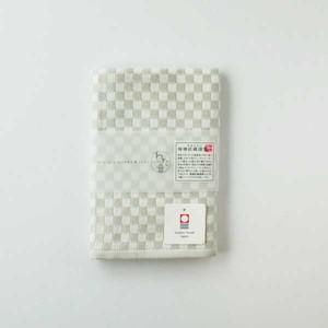 わた音カラー しゅす織り ハンカチタオル/グレー