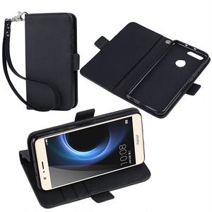 Huawei honor8 ケース手帳型 カバー スタンド機能 カードホルダー ストラップ付 sim free 対応 Jenny Desse安心保証付