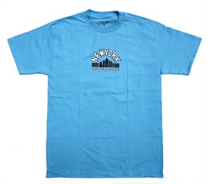 HOTELBLUE SKYSCRAPER TEE CAROLINA BLUE ホテルブルー Tシャツ