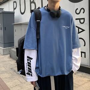 レイヤードレタリングTシャツ #ZBP5355