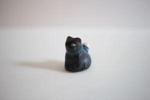 木村幸世(KIMURA&Co.)|フェーヴ 猫とお散歩(黒)
