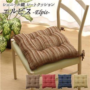 北欧風 椅子クッション/座布団 【シート型】 約43×43cm 正方形 日本製 洗える シェニール織 『エルピス』