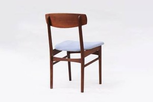 Danish Dining Chair Teak Light Blue 2p セット